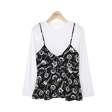 Flower bustier tee set