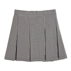 Check pleats skirt