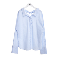 Back ribbon stripe shirts