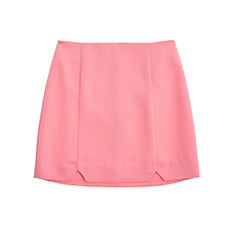 Slit point mini skirt