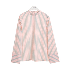 Round neck stripe shirt